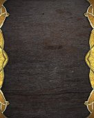 Abstract wooden background with gold edges with gold trim. Design template. Design site — Foto Stock