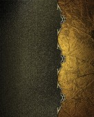 Dark yellow background with a gold edge with gold trim. Design template. Design site — Stock Photo