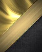 Gold black background with gold ribbon separated. Design template. Design site — Stock Photo