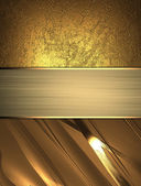 Abstract golden background with ribbons of gold. Design template. Design site — Stock fotografie