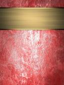 Grunge red wall with gold ribbon. Design template Design site — Foto Stock
