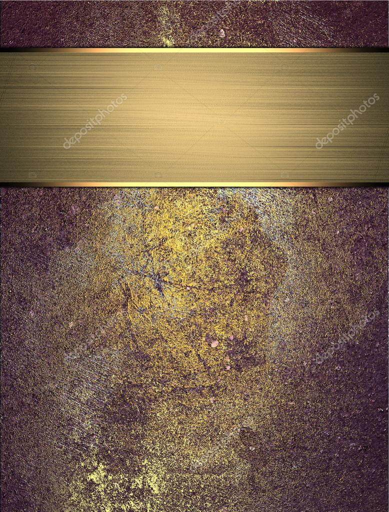 Abstract grunge gold blue texture with gold ribbon. Grunge ...