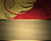 Abstract background for design with gold ribbon — Zdjęcie stockowe