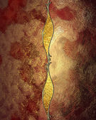 Grunge red gold texture with gold pattern — Foto Stock