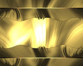 Abstract golden frame — Stock Photo