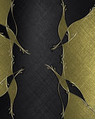 Abstract texture pattern of black texture with gold pattern. Template — Stockfoto