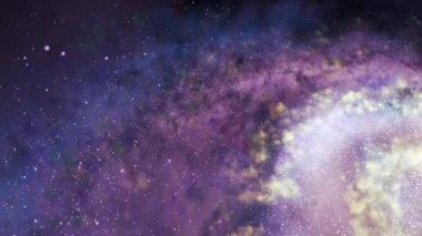 Вращение спиральной галактики - исследование открытого космоса — Стоковое видео