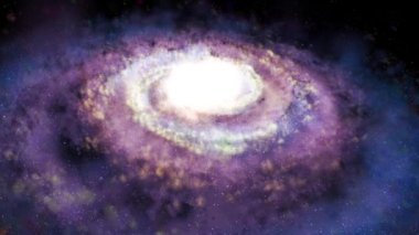Rotating spiral galaxy - deep space exploration — Stock Video