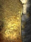 Grunge golden plate with abstract edge — Foto Stock