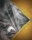 Abstract metallic background with gold edges — Stockfoto