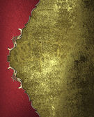 Grunge gold background with a red edge. Design template — Stock Photo