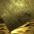 Abstract golden background of metal plates. Design template. Design site — Stock Photo #64905539