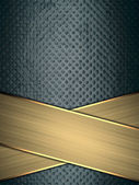Grunge blue background with gold stripe. Template for design. Template for the site — Stock Photo