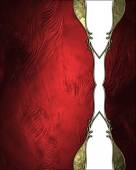 Grunge reds background with a white pattern. Template for design. Template for site — Stock Photo