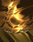 Abstract gold background with gold pattern. Design template. Design for site — 图库照片
