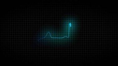 Cardiogram healthy heart — Vídeo de stock