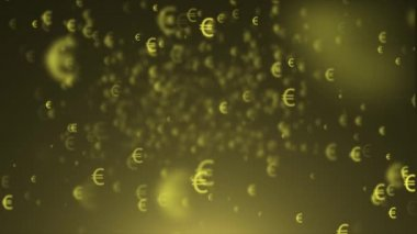 Background of euro signs. Flying Icons euros — Stok video
