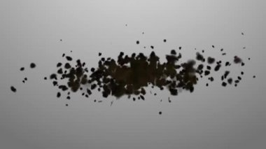 Swarm. Concepts swarm of insects or random motion of particles — Stock Video