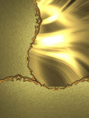 Antique background of golden plates. Template for the design of design — Stock Photo
