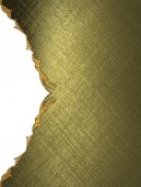 Template for design. Gold texture with a side ornament — Stock Photo
