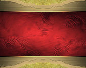 Element for design. Template for design. Red texture with gold frame — Stock Photo
