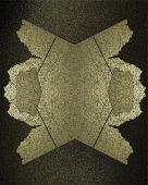 Gold Element for design. Template for design. Black and gold background with abstract pattern — Zdjęcie stockowe