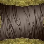 Element for design. Template for design. Grunge golden frame on brown background — Stock Photo #70454377