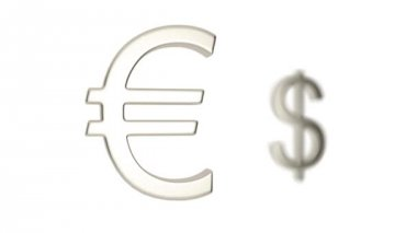 The euro and the dollar. Dollar on the euro — Stock Video