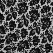 Black lace fabric with flowers — Stockfoto