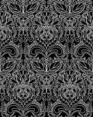 Vintage Pattern Black White — Stock Vector