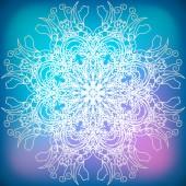 Decorativo abstrato floco de neve — Vetorial Stock