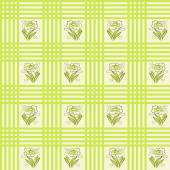 Seamless cloth stripes flowers pattern — Stock Vector