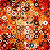 Disco style pattern with dots and circles — Stock Vector