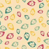 Abstract seamless pattern with colorful leaves — Stock Vector