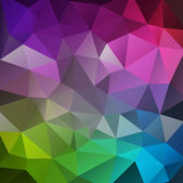 Abstract colorful background of triangles — Stockvektor