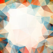 Abstract colorful background of triangles — Stock Vector