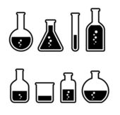 Chemical tubes icons set — Stock Vector