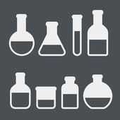 Chemical tubes icons set — 图库矢量图片