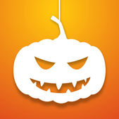 Halloween pumpkin applique background — Stock vektor