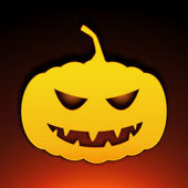 Icon halloween pumpkin — Stock Vector