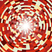 Abstract red round mosaic background — Stok Vektör
