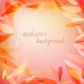 Podzimní pozadí s listy — Stock vektor