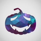 Halloween greeting card with sad pumpkin — Stock vektor