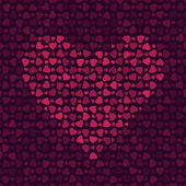 Seamless abstract pattern with red hearts — Vector de stock