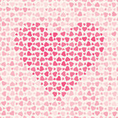 Seamless abstract pattern with pink hearts — Vector de stock