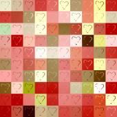 Seamless colorful pattern of hearts — Stockvektor