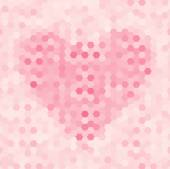 Abstract seamless background with heart — Stock Vector