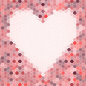 Abstract seamless background with heart — Stockvektor