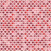 Padrão sem emenda com corações coloridas — Vetor de Stock
