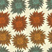 Patrones sin fisuras con doodle flores — Vector de stock